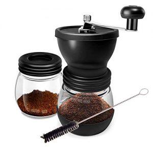 WOT Kaffeemuehle Manuell aus Glas mit Keramikmahlwerk